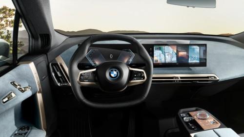 BMWが新型EV「iX」に搭載する次世代「iDrive」(写真:BMW)