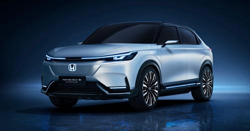 2021年の上海モーターショーで発表した「Honda SUV e: prototype」。2022年にこれをベースとしたEVの発売を計画する(写真:ホンダ)