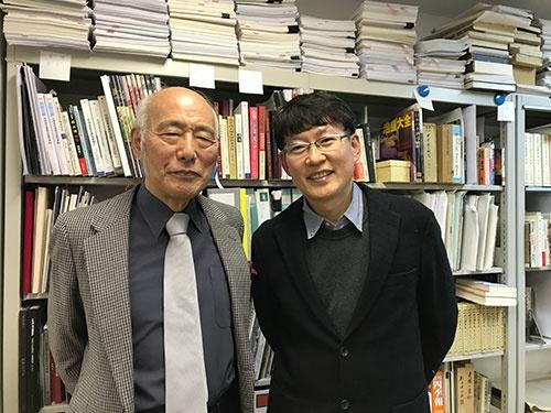 後藤特任教授(左)と沈准教授