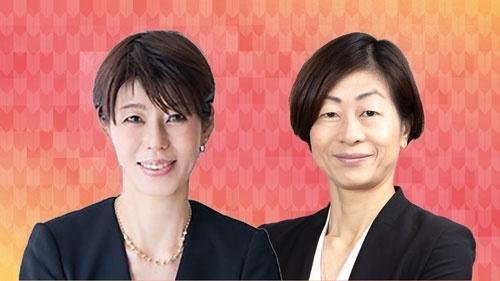 健康社会学者の河合薫氏(左)と日本オリンピック委員会(JOC)理事でもある山口香筑波大学教授
