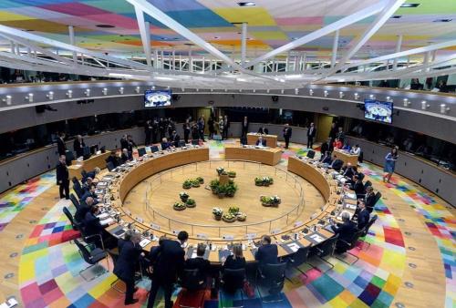3月21日、EU首脳会議が英の離脱期限延期に合意したが……(写真:AFP/アフロ)