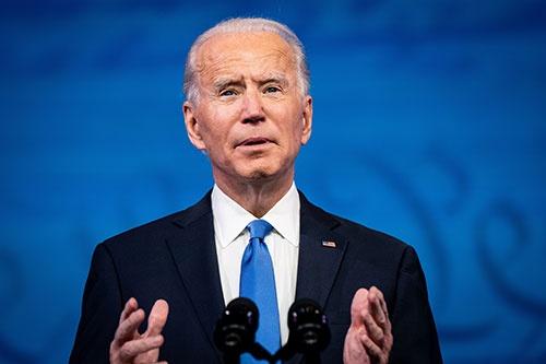 2020年米大統領選。選挙人投票の結果を受けてジョー・バイデン氏が演説(写真:The New York Times/Redux/アフロ)