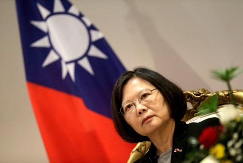 台湾の蔡英文総裁。日本はTPP加盟について台湾と水面下でコンタクトしていた(写真:ロイター/アフロ)