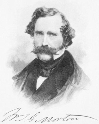 ウィリアム・モートン(1819-1868)。麻酔の発見者ホレス・ウェルズを欺き、破滅に導いた男。しかし、この男もまた、非業の死を遂げる(出典:U.S. National Library of Medicine)