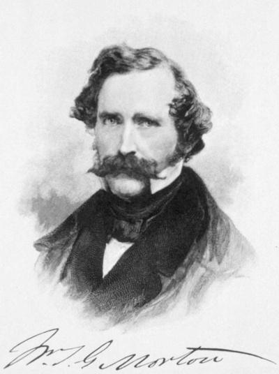 ウィリアム・モートン(1819-1868)。麻酔の発見者ホレス・ウェルズを欺き、大儲けをたくらんだが……(出典:U.S. National Library of Medicine)