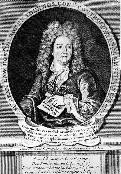ジョン・ロー(1671-1729)。お尋ね者の脱獄犯から、フランスの財務大臣と中央銀行総裁を兼任するまでに成り上がったが……(写真:Roger-Viollet/アフロ)