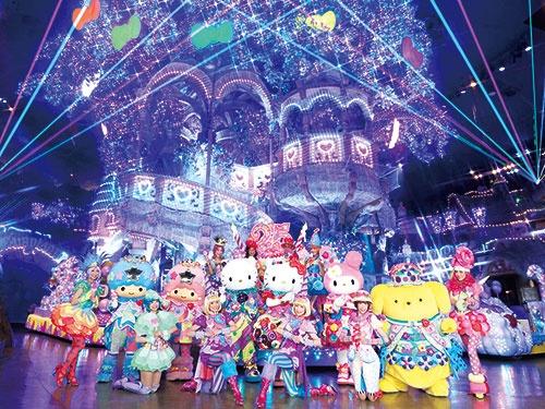 休館中、サンリオの人気キャラクターが登場する「Miracle Gift Parade」を無観客で実施。動画サイトで配信したところ、13万回以上視聴された<br />©1976, 1996, 1999, 2020 SANRIO CO., LTD.