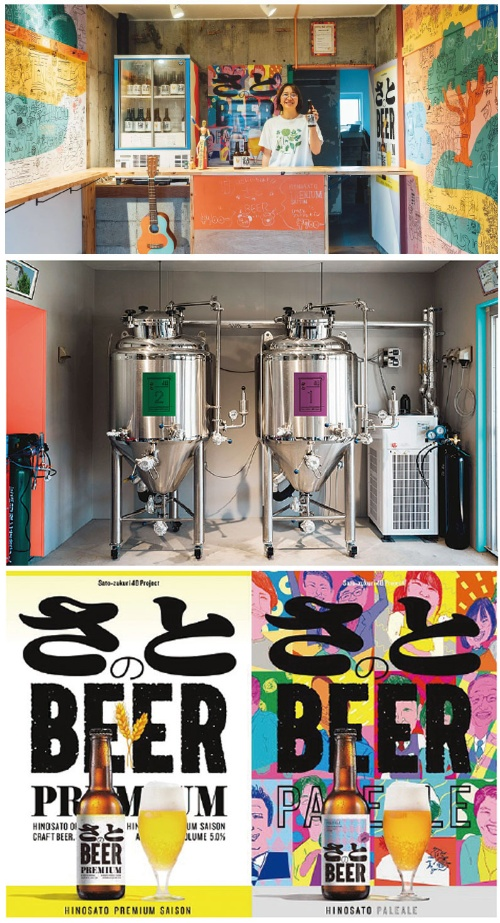 """<span class=""""fontBold"""">ひのさと48の一室で東邦レオが運営する「ひのさとブリュワリー」。地域の農家と連携しながら、クラフトビールを醸造、販売。出来たてのビールがその場で飲める</span>"""