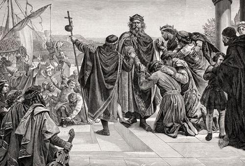 第3回十字軍に出発するフリードリヒ1世(バルバロッサ)(写真:ユニフォトプレス)