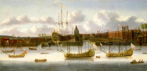 17世紀の東インド会社の船(写真:ユニフォトプレス)