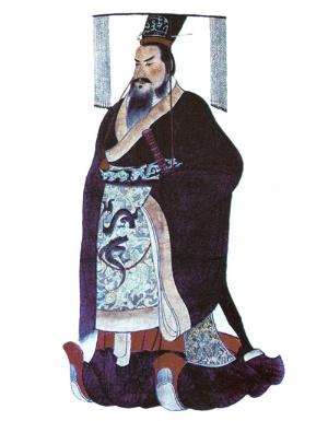 秦の始皇帝を描いたとされる人物画(写真=ユニフォトプレス)