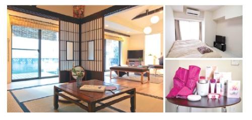 現在、3物件が大田区公認民泊物件として登録されている。うち2件はとまれ る社が運営。写真右はマンションの1室。左は一軒家タイプ。マンションでは 美容に役立つアメニティが充実