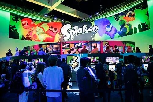 「スプラトゥーン」は、2014年のE3(Electronic Entertainment Expo、米国ロサンゼルスで開催)で発表された。発売は、2015年5月。(写真:AP/アフロ)